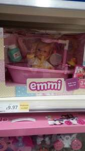 Emmi bath time baby set in store Tescos (Stafford) was £19.95 now £9.97
