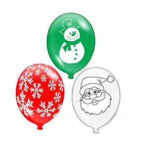 15 Christmas Balloons santa, snowman and snowflake design £1.78 delivered @ eBay sold by kids-parties