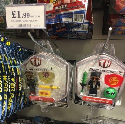 Tube Heroes Figure Packs £1.99 instore @ Home Bargains