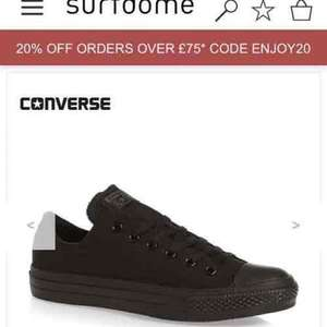 Converse chuck taylor all black £35.99 Del @ Surfdome
