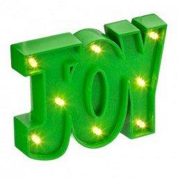 Light Up Green Joy Letters £1 @ poundland