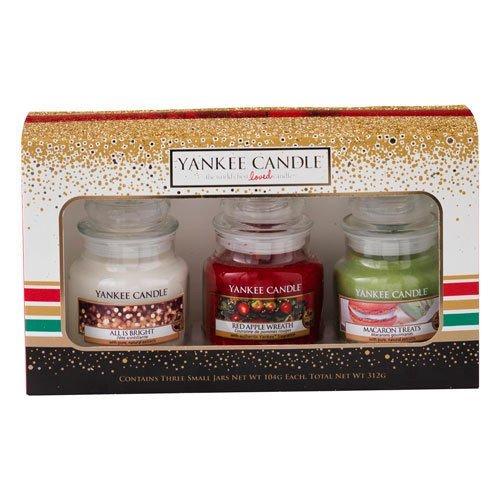 Yankee Candle Jar Holiday Party Gift Small Set of 3  £14.49 Prime £19.24 Non Prime / Medium, Set of 2 £16.49 Prime / £21.24 Non Prime  @ Amazon