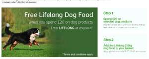 Free 2.5kg bag of  Lifelong dry dog food when you spend £20 on dog supplies sold by Amazon
