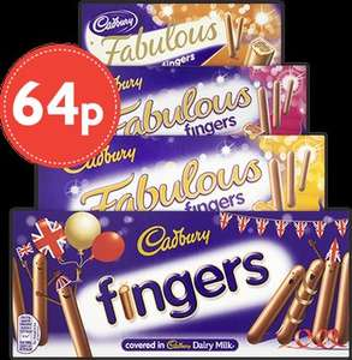 Cadbury Fingers (Milk Choc Fingers/Fabulous Fingers) 64p Each @ Nisa