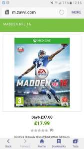 Madden NFL 16 Xbox One £17.99! | Zavvi