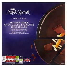 ASDA Extra Special Belgian Dark Chocolate & Orange Cheesecake (490g) was £3.00 now Rolled back to £2.00 @ Asda