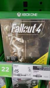 fallout 4 Xbox one/PS4 + fallout 3 digital code £15 @ ASDA instore