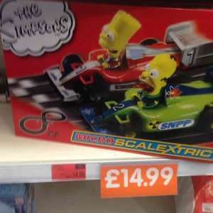 Simpsons Micro Scalextric £14.99 @ B&M