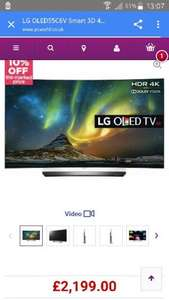 £1.980 LG OLED55C6V £1980 after coupon @ pc world free delivery