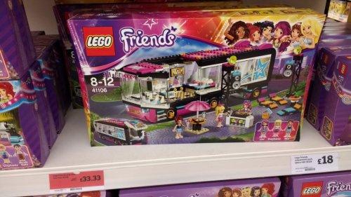 lego friends pop star tour bus £33.33 Sainsbury's Lincoln