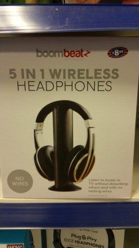 5 IN 1 WIRELESS HEADPHONES £8.99 in B&M store