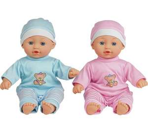 Chad Valley Babies to love talking twin dolls reduced to £5.99 @ Argos