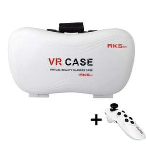 HowiseAcc 3D Glasses Virtual Reality White VR Box VR Case & Bluetooth remote £10.90 Prime or £15.65 non prime Sold by HowiseAcc and Fulfilled by Amazon