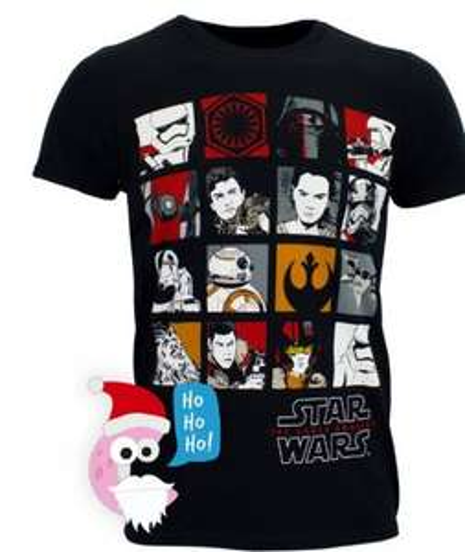 Character.com code: SANTA 50% off (postage £2.95 under £20) Star wars men's tshirt £2.50 @ Character.com