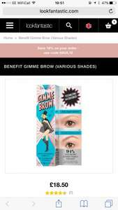 Gimme Brow £15.32 delivered with discount code (HAUL18) at Look Fantastic (plus 2.3% TCB)