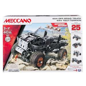 Meccano 25 Models Set - 4x4 Off-Road Truck - £28.49 inc C&C @ Tesco Direct