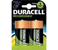 Duracell D rechargeable 2 pack 3000 mah @ Currys £6.99 free p&p
