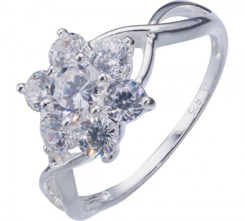Sterling Silver Cubic Zirconia Flower Ring £8.99 @ Argos
