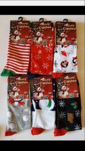 CHRISTMAS SOCKS 57p a pair! 12 individual pairs (stocking fillers) delivered for £6.85 @  uniquechoice14 / Ebay