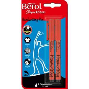 Berol Handwriting Pens Black 2 pack @ Tesco