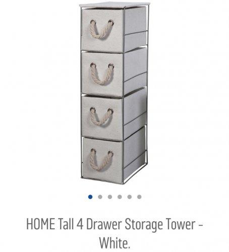 4 door storage tower at Argos £8.99