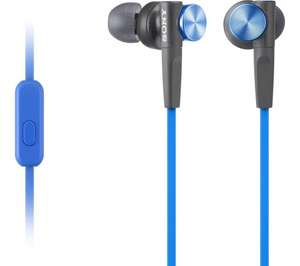 SONY MDR-XB50APL Headphones - Blue - Was £24.99 Now £17.99 @ Currys