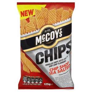 "McCoy's Chip Shop Sea Salted ""Chips"" 125g Bag 49p @ Heron"