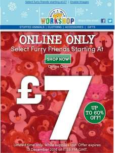 build a bear sale online only bears from £7 upto 60% off
