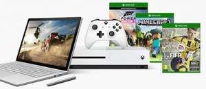 Surface Book (i5/8gb/256gb/dGPU) £1189 + Surface Pro 4 (i5/8gb/256gb) £721 + xBox One S (Fifa 2016)  £249 = £2,160.19 (-£767.80 OFF) Microsoft Store