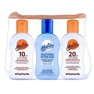 Malibu travel bag sun lotion & aftersun set £3.99 @ Savers
