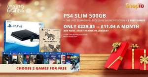 PS4 Slim 500GB Black Console + The Last Guardian - Exclusive Launch Edition PLUS 2 Free items - £229.85 - Shopto