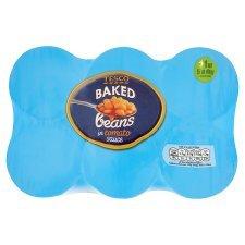 Tesco Baked Beans In Tomato Sauce 420G X 6 Pack £1.40 @ Tesco