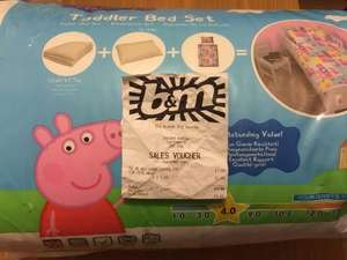 Peppa Pig Toddler Bed Set £1 INSTORE @ B&M