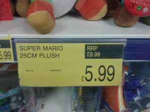 25cm Assorted Super Mario Plushies £5.99 @ B&M