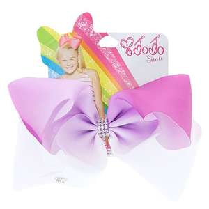 Jojo Swia Large Purple & White Ombré Signature Hair Bow Buy one get one free £10 - free c&c @ Claire's