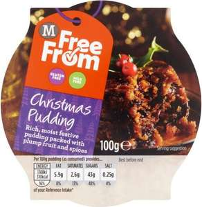 Morrisons Free From Christmas Pudding individual (100g) was £1.27 now 2 for £1.50 @ Morrisons