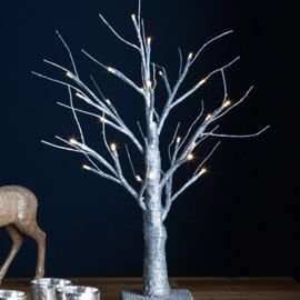 Tesco 45cm Indoor Pre-Lit LED Silver Glitter Twig Tree £7.99 @ Tesco