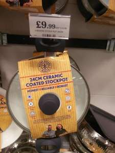 Hairy Biker 24cm ceramic coated stockpot with glass lid £9.99 Home Bargains