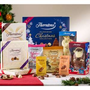 Thorntons Christmas Share Bundle £52.50 worth of Chocolate for £25 delivered