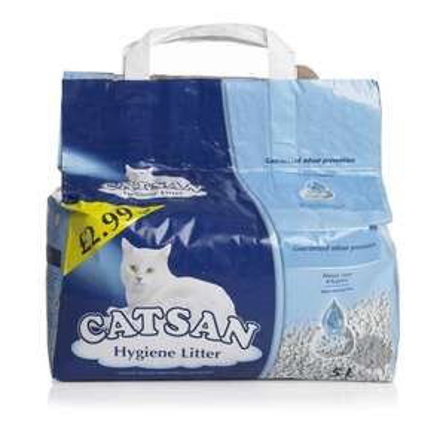 Catsan cat litter 5L bag in Russell's stores, Belfast £1.50