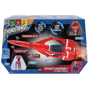 Supersize Thunderbird 3 playset with smoke effects, light and sounds was £49.99 now £16.99 @ Smyths