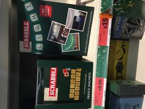 Novelty Scrabble gifts - magnets £4.50 and letter string lights £15 @ sainsburys