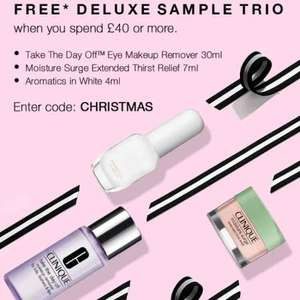 Clinique deluxe sample trio, free with £40+ spend