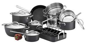 Circulon Infinite Hard Anodised Cookware Set, 5-Piece £134.99 / 10 Piece £199.99 @ Amazon