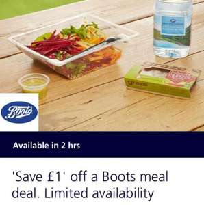Boots 'Meal Deal' for £2.29 (£2.79 in London) with o2 Priority