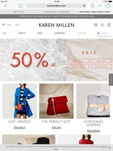 Karen Millen up to 50% sale starts today