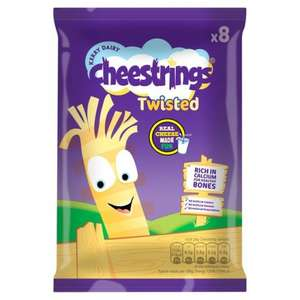 Cheestrings Original or Twisted (8 x 20g) was £2.74 now £1.78 @ Morrisons