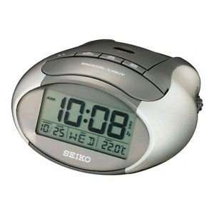 Seiko QHL023A LCD Alarm Clock with Calendar & Thermometer - Metallic Grey - £7.29 @ 7dayshop