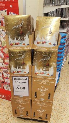 Lindor advert calender chocolates £5 tesco instore - peterborogh