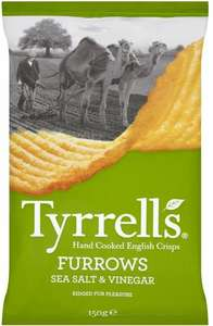 Tyrrells Furrows Sea Salted / Sea Salt & Vinegar / Mature Cheddar Cheese & Pickled Onion (150g) was £1.50 now 2 for £2.00 @ Morrisons